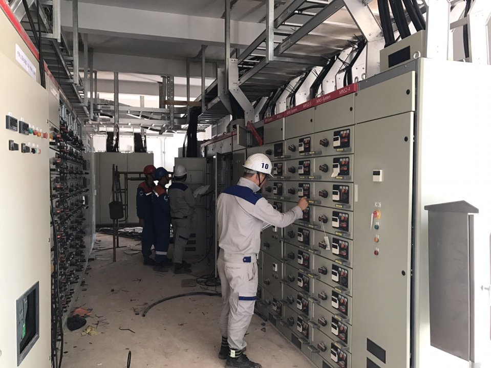Installation of electrical systems in Chanh Duong Paper Plant